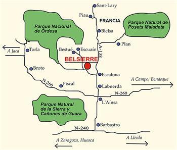 Mapa de Sobrarbe y Belsierre